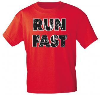 T-Shirt unisex mit Aufdruck - RUN FAST - 12681 - Gr. L