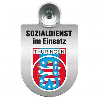Einsatzschild Windschutzscheibe incl. Saugnapf - Sozialdienst im Einsatz - 309388-13 - Region Thüringen