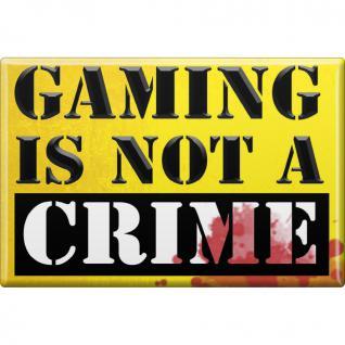 Kühlschrankmagnet - Gaming is not a Crime - Gr. ca. 8 x 5, 5 cm - 38971 - Küchenmagnet