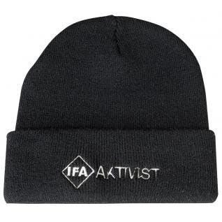 HIP-HOP Mütze mit Einstickung - IFA AKTIVIST - 54145 - schwarz