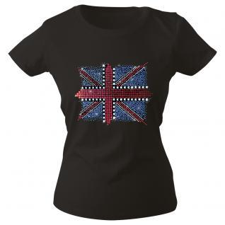 Girly-Shirt mit print - Union Jack - 12895 - schwarz - Gr. XS-XXL