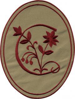 AUFNÄHER oval - Buchstabe B - Gr. ca. 10cm x 14cm (21533) Patches Stick Emblem Alphabet ABC