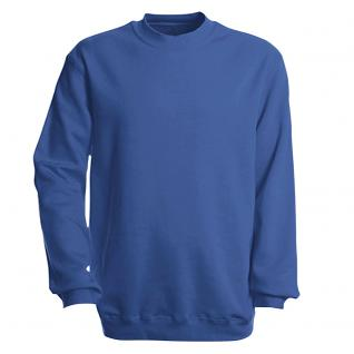 Sweat-Shirt unisex ohne Print in 14 farben Gr. S-XXL 41375 blau / XL