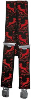 Hosenträger mit Print - Pin Up rote Frau - 06797