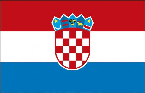 Stockländerfahne - Kroatien - Gr. ca. 40x30cm - 77087 - Schwenkflagge