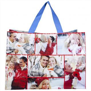 PP-Woven-Tasche - Allover Motiv Winter - 26288 - Bag Shopper Motivtasche Tragetasche