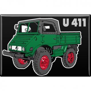 MAGNET - Unimog U411 - Gr. ca. 8 x 5, 5 cm - 36503 - Küchenmagnet