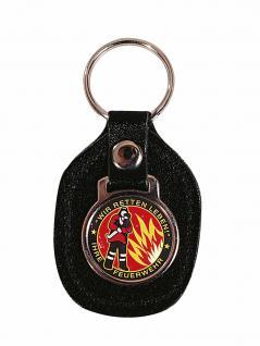 Schlüsselanhänger Leder mit Motiv - Wir retten Leben - Gr. ca. 5x7cm - 02342 - Keyholder Feuerwehr