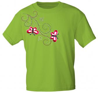 (12853) T- Shirt mit Glitzersteinen Gr. S - XXL in 16 Farben grün / M