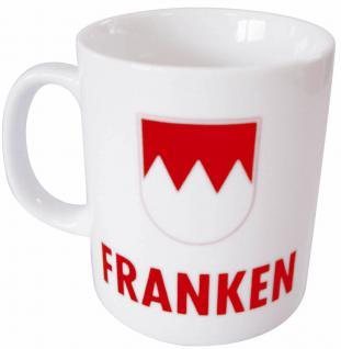 Tasse Kaffeebecher mit Print FRANKEN weiß 57062