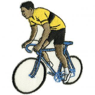 Aufnäher Applikation - Bike Fahrrad gelbes Trikot - 04031 - Gr. ca. 5, 5cm x 7, 5cm