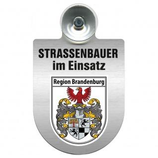Einsatzschild Windschutzscheibe incl. Saugnapf - Straßenbauer im Einsatz - 309464 Region Brandenburg
