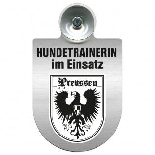 Einsatzschild mit Saugnapf Hundetrainerin im Einsatz 309379/1 Region Preussen