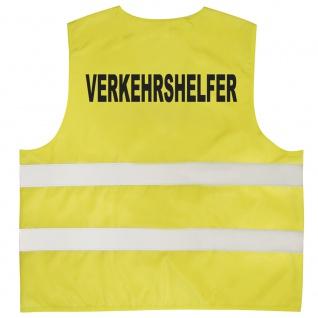 Warnweste mit Print - Verkehrshelfer - 11711 gelb Gr. 2XL