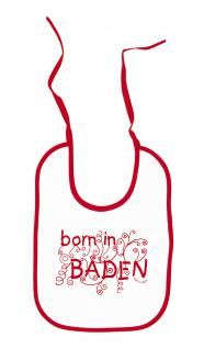 Baby - Lätzchen mit Druckmotiv - Born in Baden - 08438 -