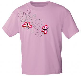 (12853) T- Shirt mit Glitzersteinen Gr. S - XXL in 16 Farben rosa / M
