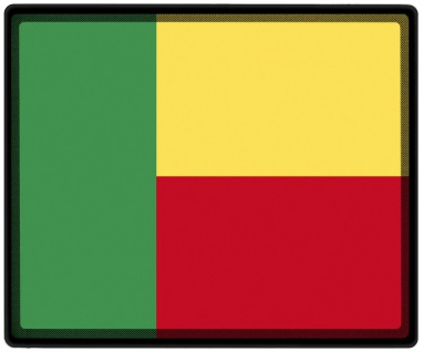 Mousepad Mauspad mit Motiv - Benin Fahne - 82025 - Gr. ca. 24 x 20 cm