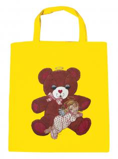 (08903/2-gelb) Umweltfreundliche Baumwoll - Tasche , ca. 28 x 43 cm mit Aufdruck