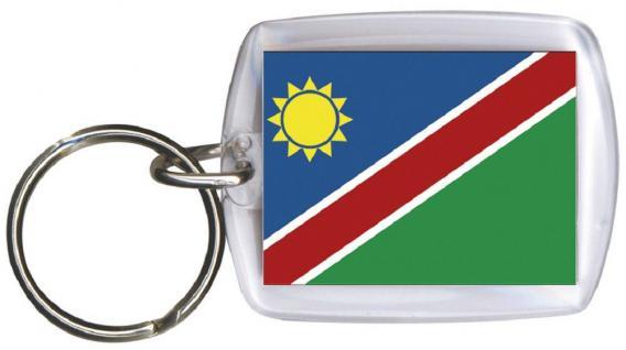 Schlüsselanhänger Anhänger - NAMIBIA - Gr. ca. 4x5cm - 81114 - Keyholder WM Länder