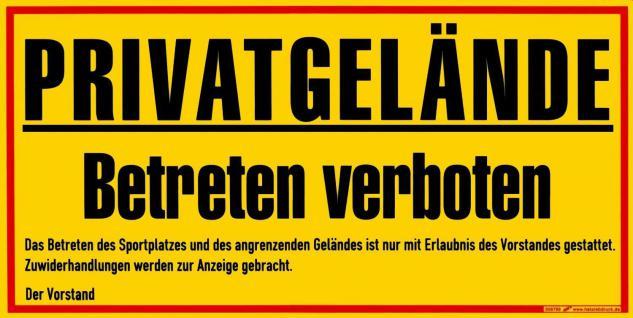 Warnschild PRIVATGELÄNDE - Privatgelände Betreten verboten - 308798 - 40cm x 20cm - Kunststoffschild
