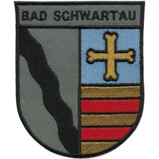 AUFNÄHER - Wappen - Bad Schwartau - 00430 - Gr. ca. 7, 5 x 9, 5 cm - Patches Stick Applikation