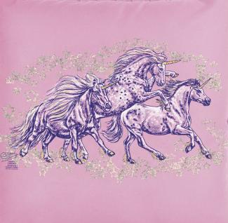 KISSEN - Sternen-Pony - Gr. ca. 40x40cm - 11340 - Zierkissen Autokissen