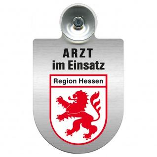 Einsatzschild Windschutzscheibe incl. Saugnapf - Arzt im Einsatz - 309352 Region Hessen