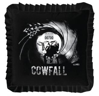 Dekokissen mit Print - COWFALL - Gr. ca. 40 x 40 cm - 11350 schwarz