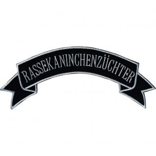 Aufnäher - Rassekaninchenzüchter - 07397 - Gr. ca. 28, 5 x 11 cm - Patches Stick Applikation