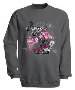 Sweatshirt mit Print - Country Music - 10247 - versch. farben zur Wahl - Gr. grau / XXL