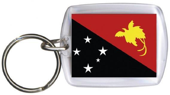 Schlüsselanhänger Anhänger - PAPUA-NEUGUINEA - Gr. ca. 4x5cm - 81127 - Keyholder WM Länder