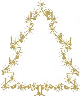 Wandtattoo Dekorfolie Weihnachtsbild Weihnachtsbaum Tannenbaum WD0810 - gold / 120cm