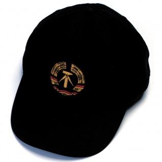 Baseballcap mit Einstickung - Wappen Emblem DDR - 68127 schwarz