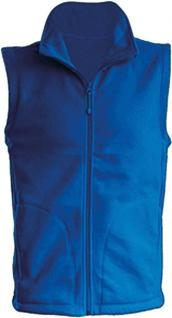 (11537) Karneval Fleece-Weste mit Brust- und Rückenstick,? Clown? NEU Gr. S- XXL in 4 Farben blau / L