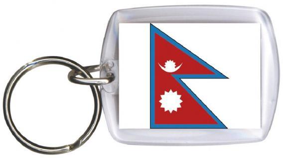 Schlüsselanhänger Anhänger - NEPAL - Gr. ca. 4x5cm - 81116 - Keyholder WM Länder