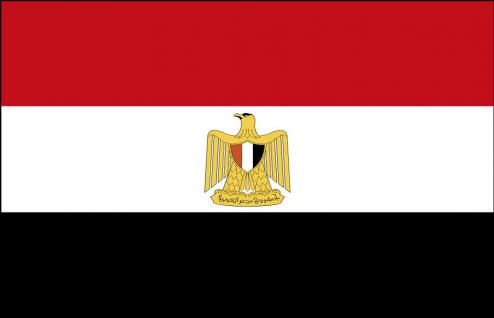 Stockländerfahne - Ägypten - Gr. ca. 40x30cm - 77001 - Dekoflagge zum Hissen