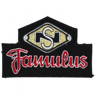 Aufnäher Applikation Emblem Abzeichen Famulus - 04890 Gr. ca 7cm x 10cm