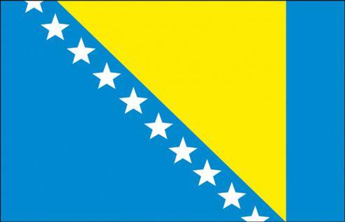 Stockländerfahne - Bosnien - Gr. ca. 40x30cm - 77028 - Schwenkflagge Dekofahne