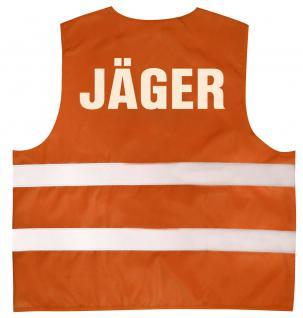 Warnweste mit Aufdruck - JÄGER - 11558 versch. Farben Gr. Orange / 2XL