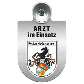 Einsatzschild Windschutzscheibe incl. Saugnapf - Arzt im Einsatz - 309352 Region Niedersachsen