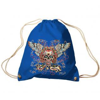 Trendbag Turnbeutel Sporttasche Rucksack mit Print - Totenkopf Skull Santa Muerte - TB65310