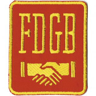 AUFNÄHER - FDGB - DDR - 00819 - Gr. ca. 7, 5 x 9, 5 cm - Patches Stick Applikation