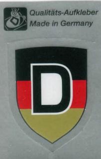 PVC-Aufkleber - Deutschland - Gr. ca. 3 x 6 cm - 301057/1