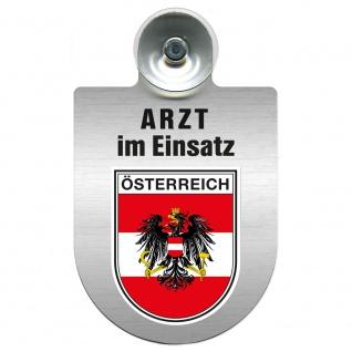 Einsatzschild Windschutzscheibe incl. Saugnapf - Arzt im Einsatz - 309352 Region Österreich
