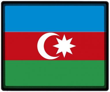 Mousepad Mauspad mit Motiv - Aserbaidschan Fahne - 82016 - Gr. ca. 24 x 20 cm