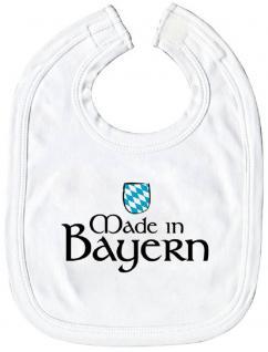 Baby-Lätzchen mit Druckmotiv - Made in Bayern - 08452 weiss