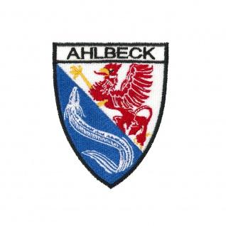 Aufnäher Patches Wappen Ahlbeck Gr. 7 x 9 cm 01030