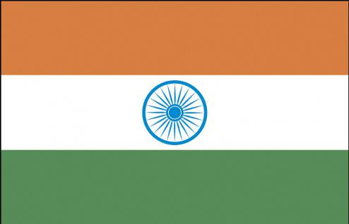 Autoscheiben-Flagge - Indien - Gr. ca. 40x30cm - 78064 - Länderflagge Dekofahne Autoländerfahne