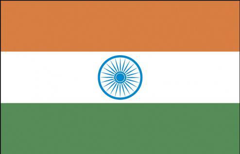Länderfahne Stockländerfahne - Indien - Gr. ca. 40x30cm - 77064 - Länderflagge