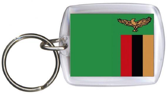 Schlüsselanhänger - SAMBIA - Gr. ca. 4x5cm - 81140 - Anhänger WM Länder